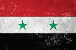 Syria - Syrian Flag on Old Grunge Texture Background