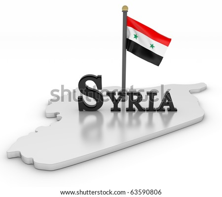 Syria Tribute/Digitally rendered scene with flag and typography