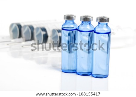 Syringe and vial
