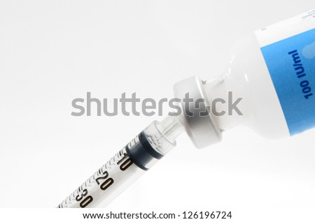 Syringe and vials
