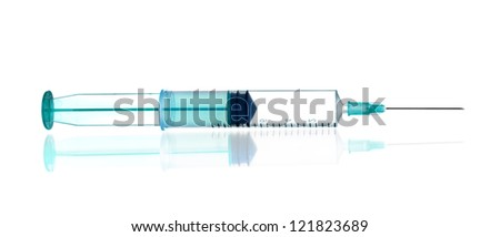 Syringe isolated with path
