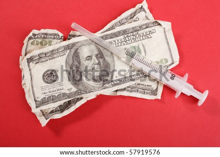 Syringe on the dollars