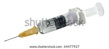 Syringe on white background. Included clipping path.