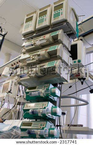 syringe pumps in ICU