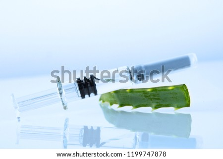syringe with vitamins on a white background Zdjęcia stock ©