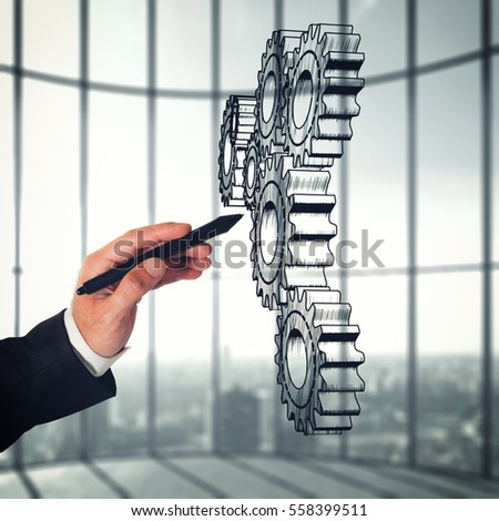 System of a mechanism gears. Strategy business company