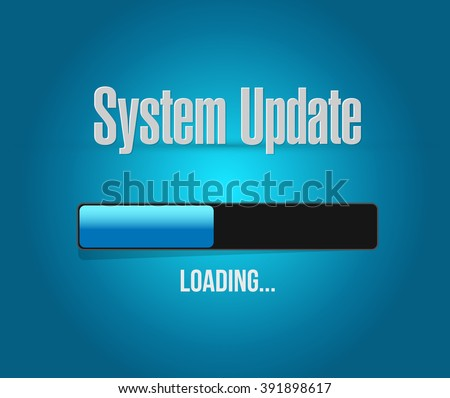 System update loading bar sign concept illustration design graphic