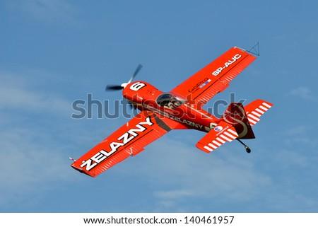 SZYMANOW, POLAND - AUGUST 25: Aerobatic group formation \