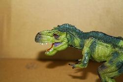 T-rex Dinosaur Toys With Selective Focus Techniques