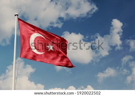 Türk bayrağı. Translation Turkey Flag Stok fotoğraf ©