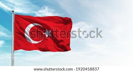 Türk bayrağı. Translation Turkey Flag