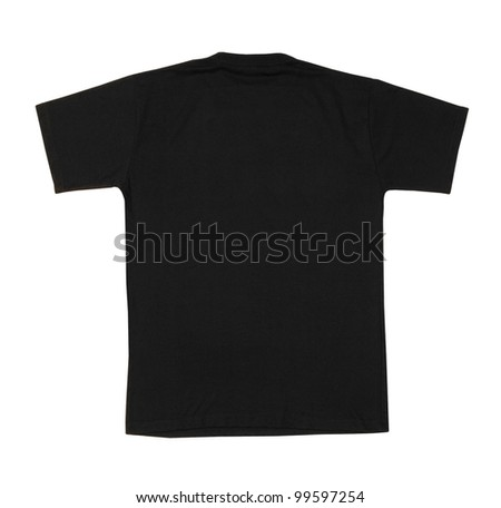 t-shirt back isolated on white background