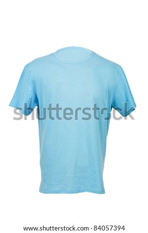 T-shirt isolated on the white