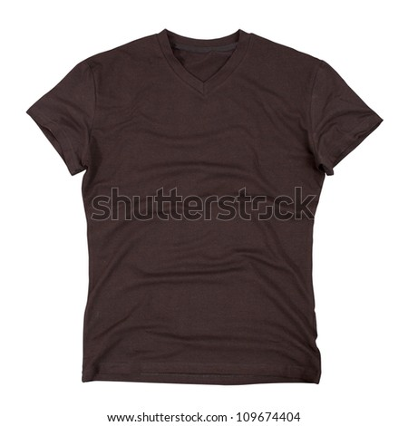 T-shirt isolated on white background. Clipping paths included.