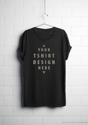 T-shirt Labeling and design realistic t.shirt design psd