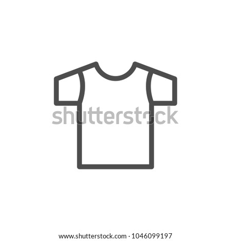 T-shirt line icon isolated on white