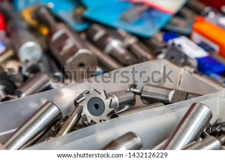 T-slot milling tools in a tool box