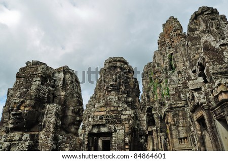 Ta Phrom ancient castle in the city of Angkor Wat in Siem Reap, Cambodia.