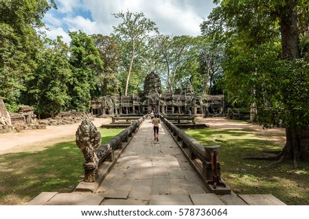Ta Prohm Temple landmark in Siem Reap, Cambodia. Angkor Wat inscribed on the UNESCO World Heritage List in 1992 #578736064