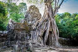 Ta Som temple part of the Angkor complex at Siem Reap, Cambodia. Photo taken in 2018.