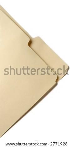 tabbed folder corner
