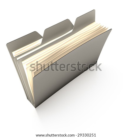 Tabbed folder (gray, with a clipping path)