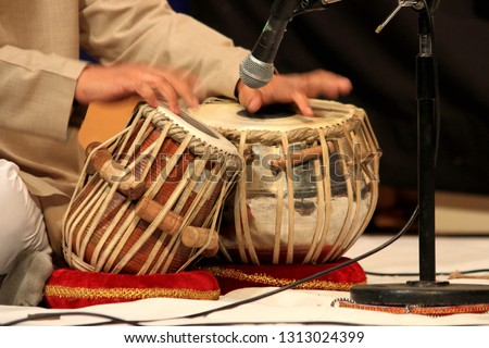 Tabla, Indian percussion Musical Instrument, comes in a pair, one for high frequency and other for lows. Its an accomplishment for all classical and light vocal, instrumental, solo,  #1313024399