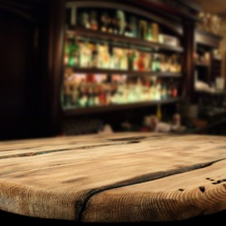 table and bar