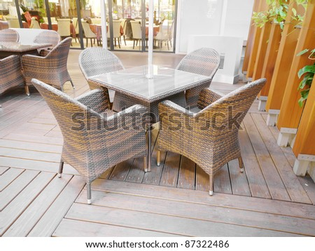 Table and chair in restaurant