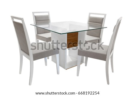 Table and Chairs on white background. Foto stock ©
