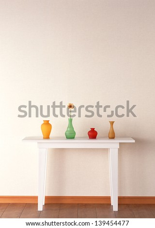 table and vase