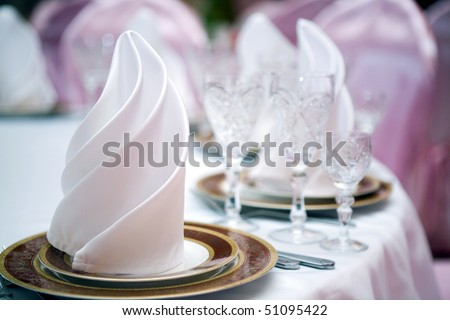 Table at restaurant.