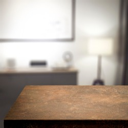 Table background of free space and home interior.Copy space for your composition.