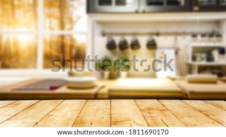 Table background of free space and window.