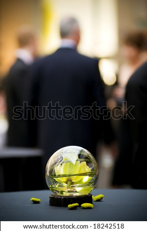 table center piece at business party