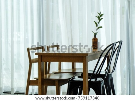 Table  chairs in cafe style #759117340