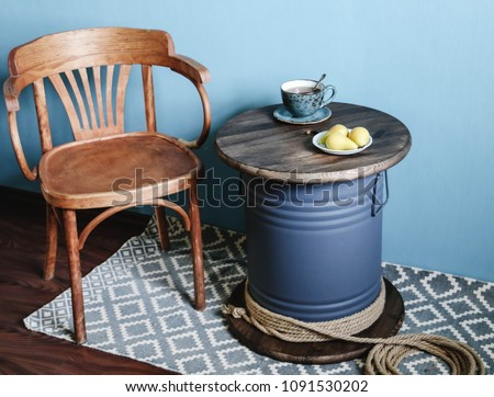 Table coil made from coil of electric cable Сток-фото ©