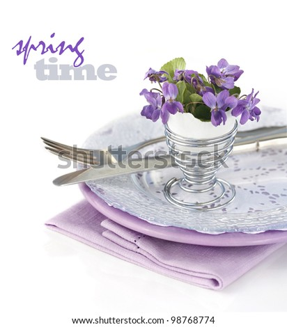 Table Decoration with Viola Flowers