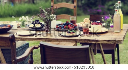 Table Food Lunch Variety Concept