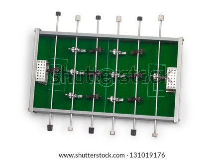 table football game is isolated board game