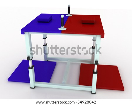 how to build arm wrestling table