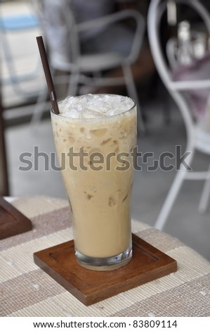 Table Ice Cold Coffee Glass