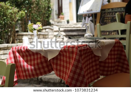 Table in a Tavern in the Old Town of Corfu