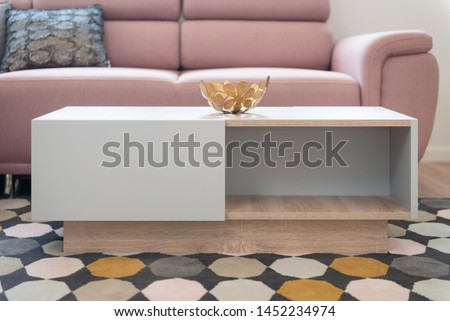 Table in contemporary living room interior #1452234974
