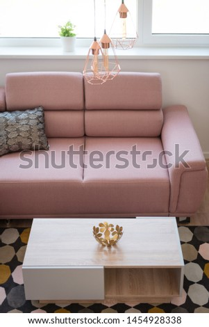 Table in contemporary living room interior #1454928338