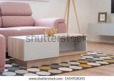 Table in contemporary living room interior #1454928341