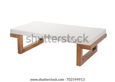 Table isolated on white background.