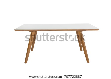Table isolated on white background. #707723887