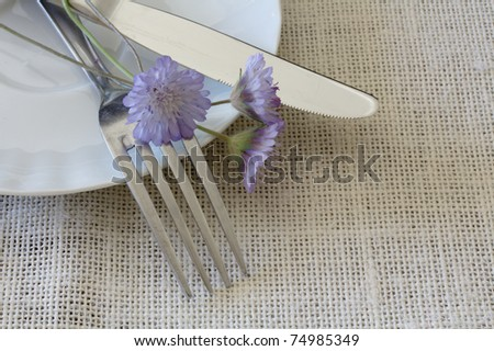 stock photo Table Laid For wedding A Romantic Dinner or other events
