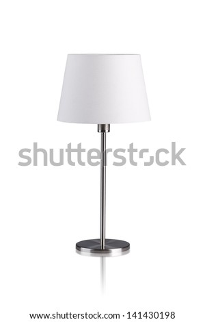 Table lamp isolated on white background #141430198